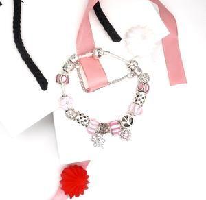Pandora Sparkling Pavé Bars Bracelet Rose Gold